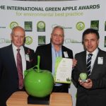 Roger Wolens from The Green Organization with Mike Tuzzio and Manel Roura of Lyreco
