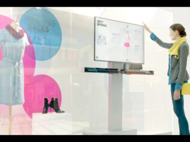 Shop windows can become an interactive display